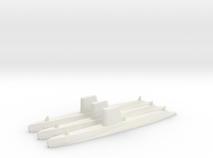 USN Guppy III sub 1/2400 x3 3d printed