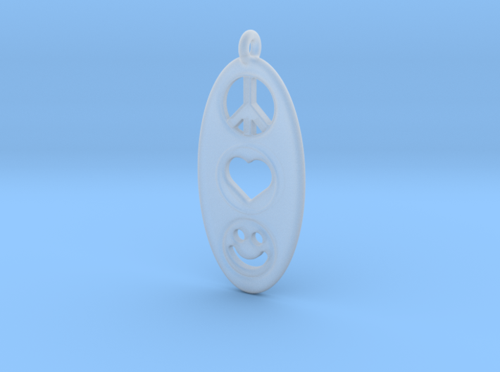 Peace Love Happiness 3d printed