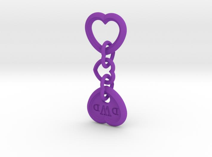 Heart Keychain (Monogrammed) 3d printed