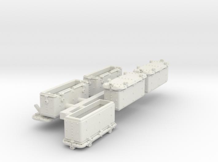 1-87 Oerlikon US Navy Ammo Locker SET 3d printed