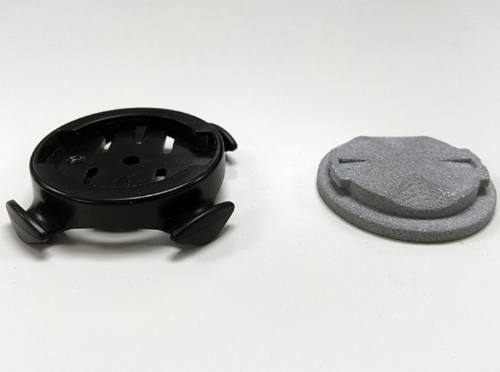 Garmin Male Mount 3d printed Male mount (right) with Female bike mount (left)