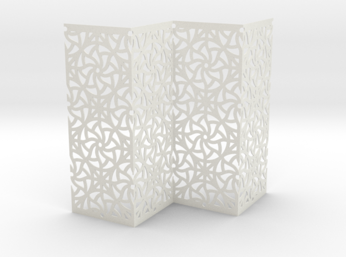 Screen Curved Star Pattern 3d printed