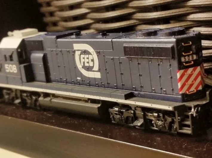 N - GP38-2 Radiator Grille - 10x 3d printed Finished model by Will Hoover.