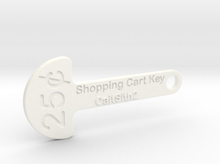 Quarter Shopping Cart Key 3d printed
