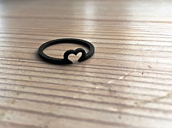 Heart Ring - Size Large 3d printed