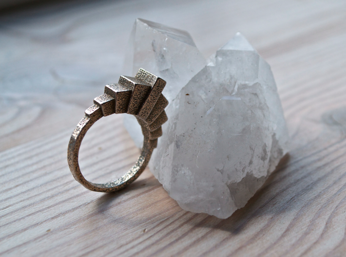 """""""Kriist"""" Ring - Size Large 3d printed"""