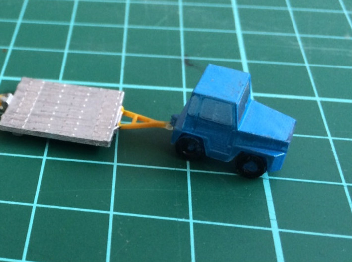 GSE Airport Baggage Tractor 1:200 (2pc) 3d printed Airport baggage tractor painted in KLM colors