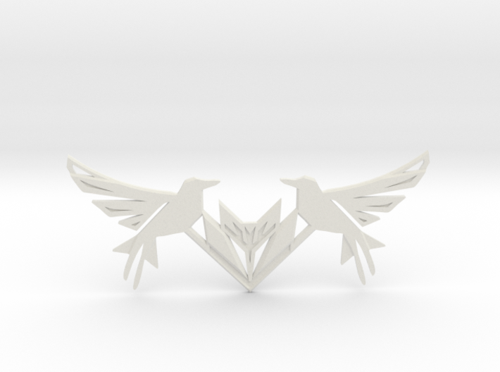 Swallow Collar Necklace 3d printed