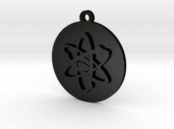 PSA Keychain Atom Icon 3d printed