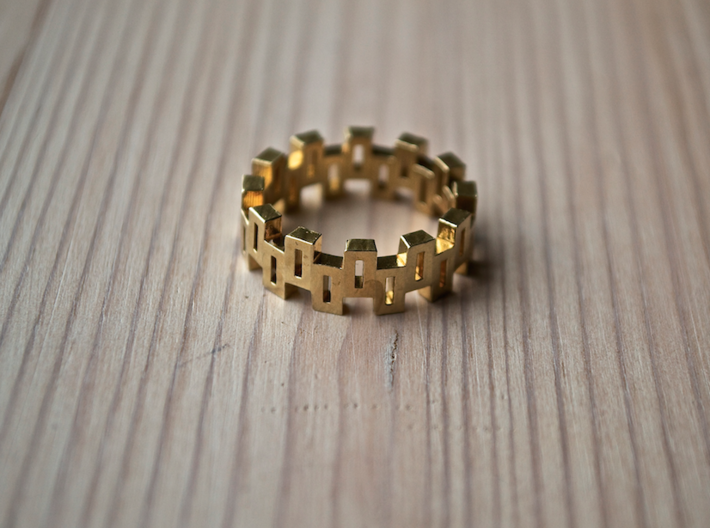 """""""Boxiness"""" Ring - Size Small 3d printed"""