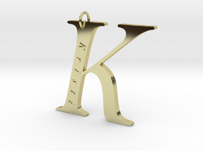 K Gold 18 Personalized 3d printed