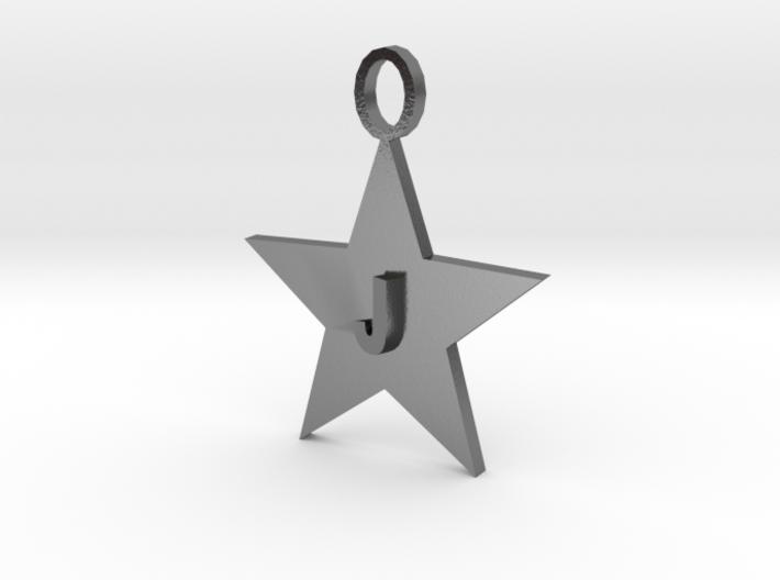 Necklace Letter J 3d printed