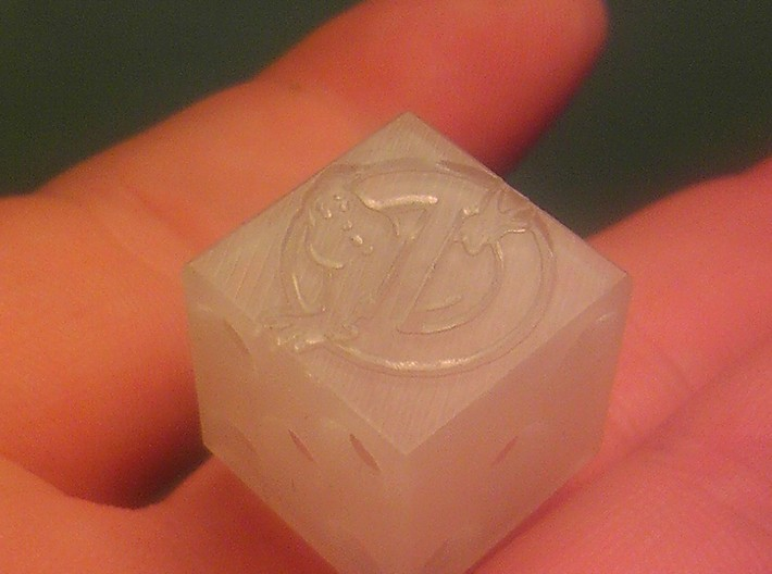 Ghostbuster RPG Ghost Die 3d printed Printed in frosted ultra detail