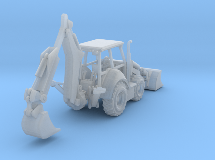 Cat 430F Backhoe Z Scale Revised 3d printed Cat 430F Backhoe Z scale