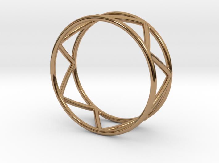Zig Zag Thumb Ring 3d printed
