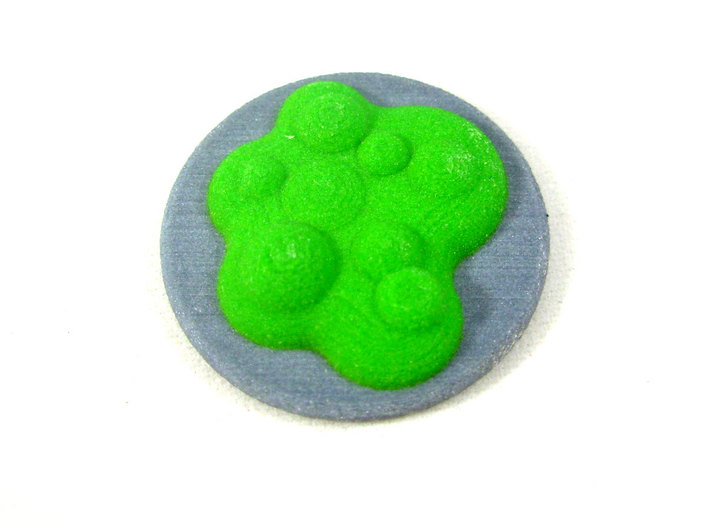 Chemical Spill Token With Base, Toxic or Poison 3d printed