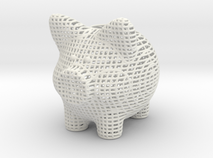 Wire Frame Piggy Bank 3 Inch Tall 3d printed