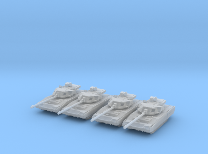 Russian T-14 Armata Main Battle Tank Platoon 6mm 3d printed