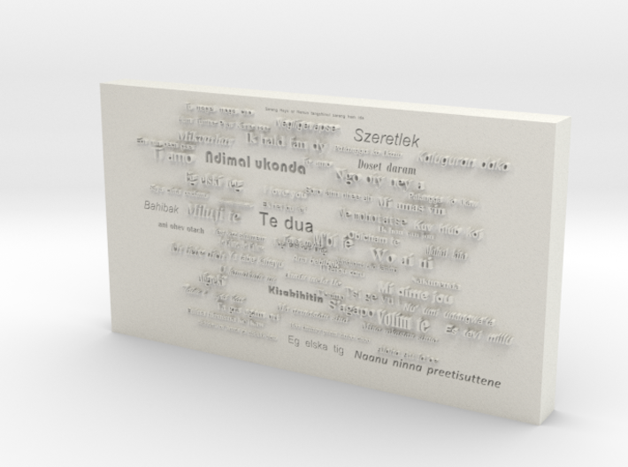 Say i love you in 100 different language 3d printed
