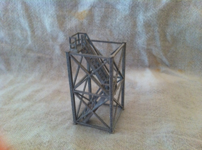 'N Scale' - 10 Ft x 10 Ft x 20 Ft Tower With Stair 3d printed