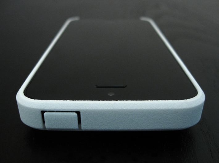 "Cariband case for iPhone 5/5s, ""holds stuff"" 3d printed White Strong & Flexible, Front and Top, power button"