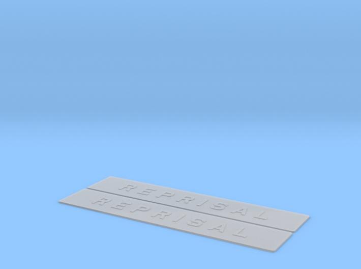 """""""REPRISAL"""" ship name sign 2pcs 3d printed"""