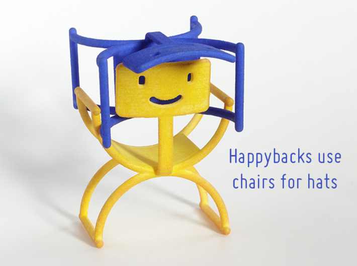 Happyback Chair 3d printed