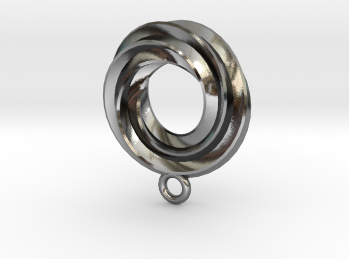 TripleSpiralPendant 3d printed