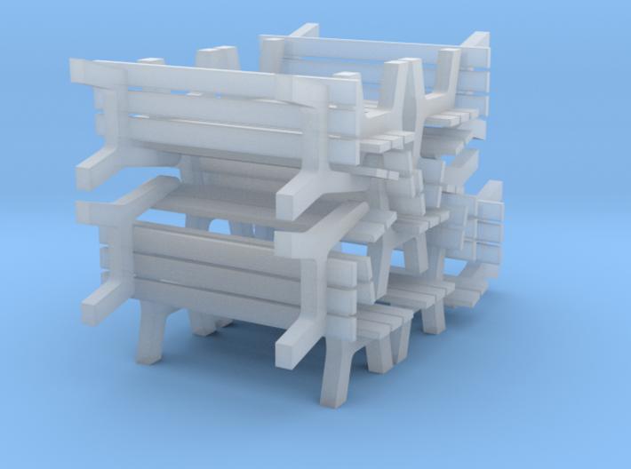 1:87 H0 - 10x Parkbank / Park Bench - Modelleisenb 3d printed