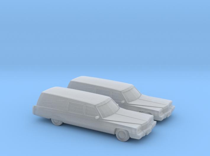 1/160 2X 1975 Cadillac Hearse 3d printed