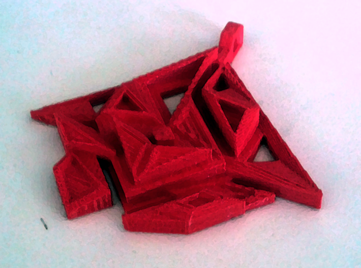 Pendant DANU 3d printed Crystals brought together by the old ones.
