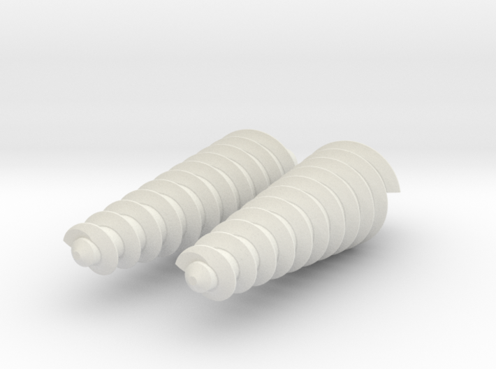 Two Twisty Drills 3d printed