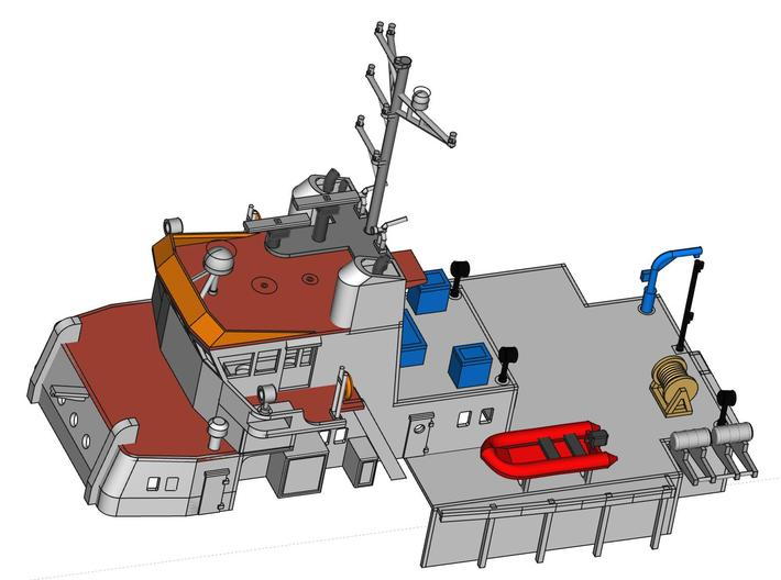MV Anticosti, Superstructure (1:200, RC Ship) 3d printed 3D model of superstructure (including detailing parts from other prints)