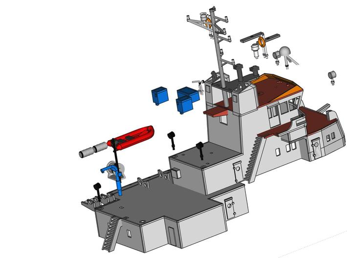 MV Anticosti, Details 1/2 (1:200, RC ship) 3d printed detailing parts for superstructure (not included)