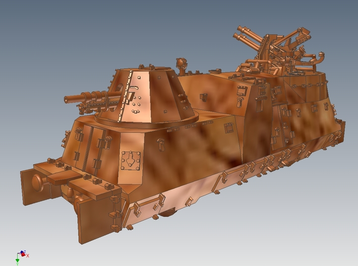 1-120 A-Wagen For BP-42 3d printed