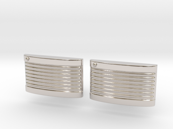 Retro Cufflinks 3d printed