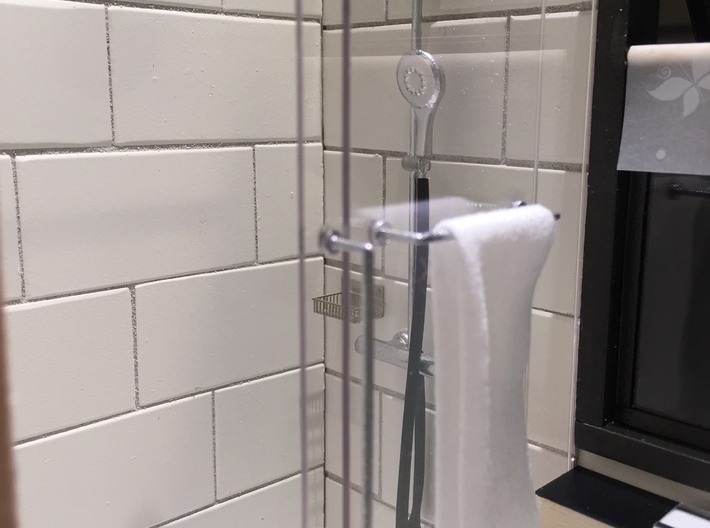1:12 Duscharmatur/Shower panel 3d printed Miniature shower