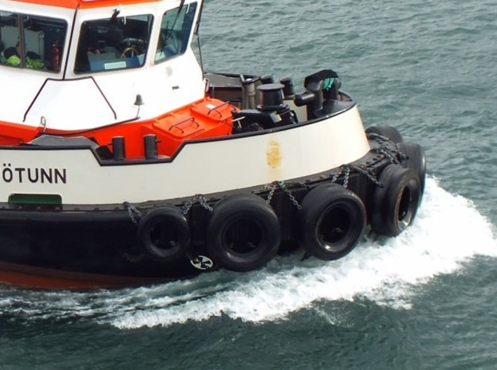 Seven Simple Tires-Tugboat 3d printed