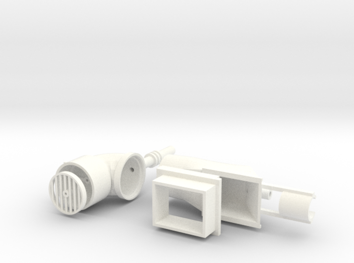 GillJet, Azimuth Thruster (working, RC, small) 3d printed render of White Strong & Flexible Polished