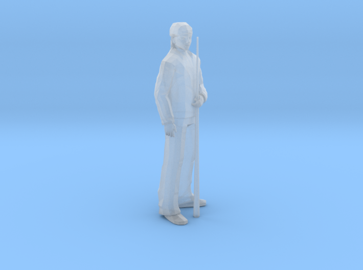 Pool Player Man Standing - HO 87:1 Scale 3d printed