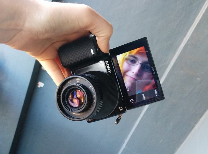 Diana F+ to Sony E-Mount 3d printed Adaptor in action!