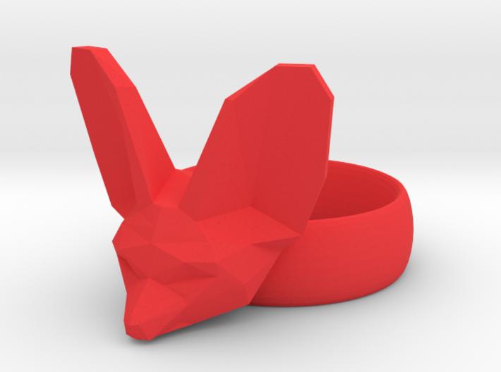 Fennec Fox Friendship Ring 3d printed