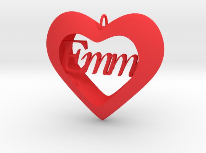 Heart pendant 3d printed