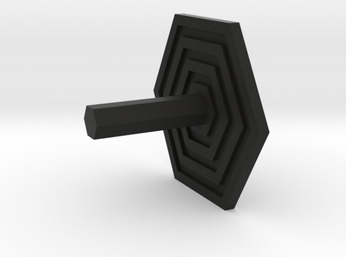 Key Hanger - Hexagon Design 3d printed