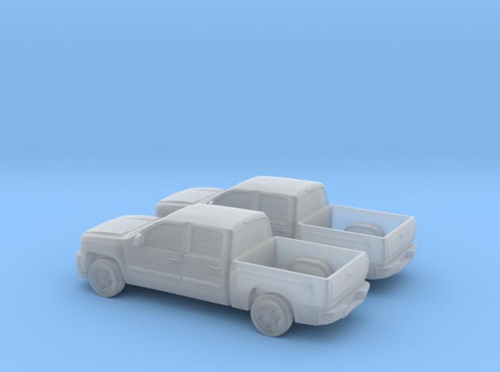 1/160 2X 2012 Chevrolet Silverado Ltz 3d printed