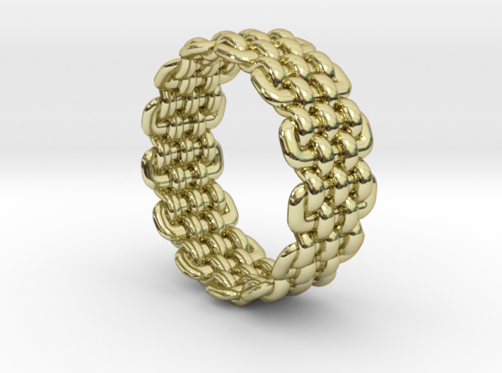 Wicker Pattern Ring Size 11 3d printed