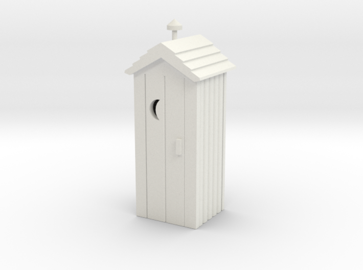 Outhouse - Qty (1) HO 87:1 Scale 3d printed