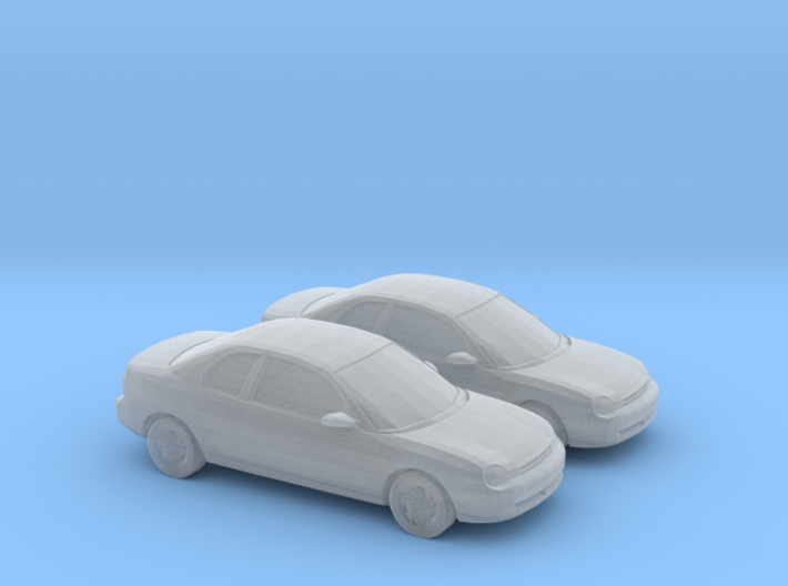 1/160 2X 1995 Dodge Neon Coupe 3d printed
