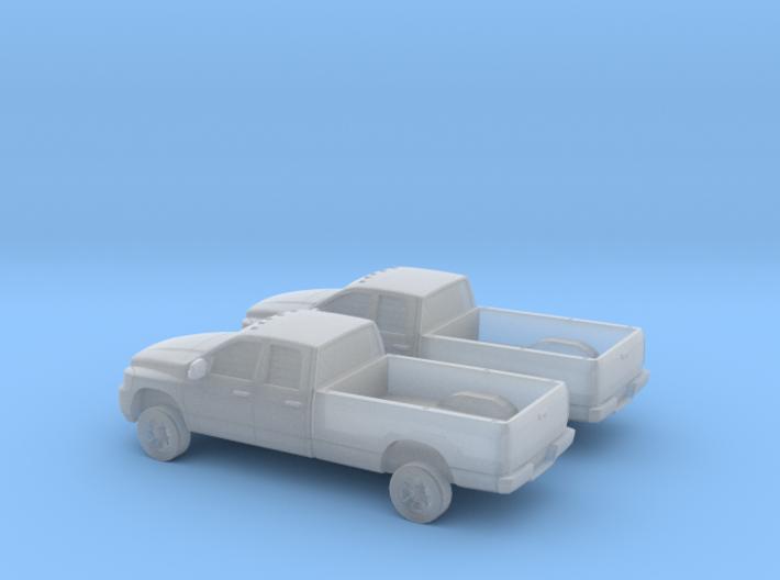 1/160 2X 2006 Dodge Ram Crew Cab 3d printed
