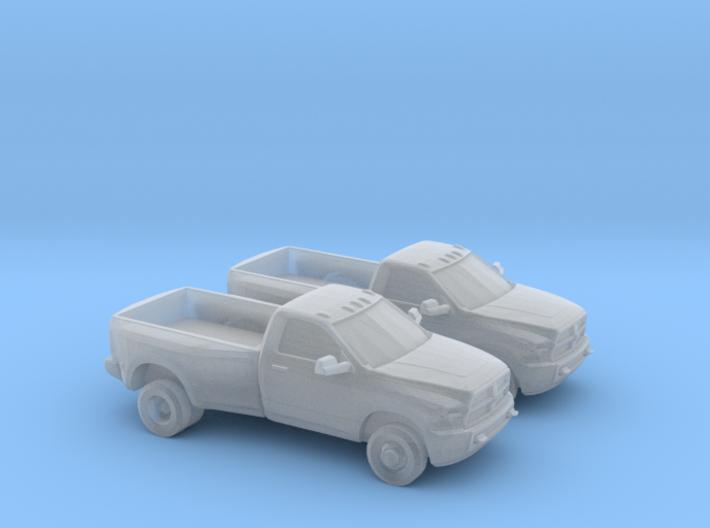1/160 2X 2008-14 Dodge Ram Single Cab Dually 3d printed